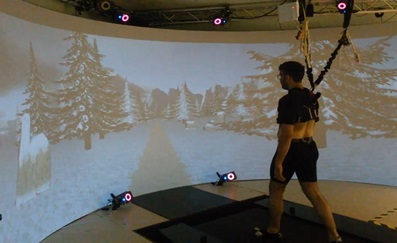 Self-paced treadmill-based virtual reality walking with Motek GRAIL