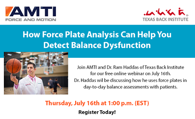 AMTI webinar: using force plates for clinical balance assessments