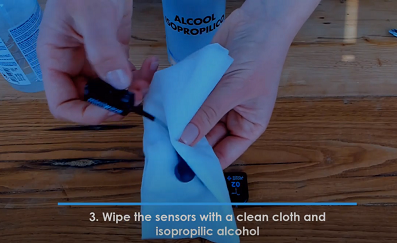 Video tutorial: how to safely clean your Cometa sensors