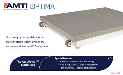 Introducing the new AccuPower-Optimized force plate from AMTI