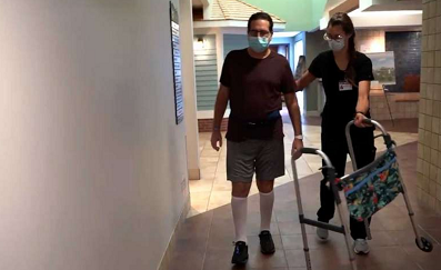 COVID-19 and Guillain-Barre syndrome patient walks again using Lokomat